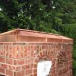 Copper mailbox roof
