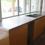 Countertop that goes into window
