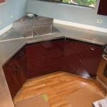Countertop with vacuum