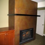 Etched Brass Fireplace Surrond 1