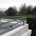 Gray Handrail on back deck