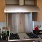 Stainless Steel Backsplash with pot filler