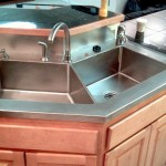 Stainless Steel Countertop with marine edge