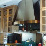 Stainless Steel Hood with copper trim