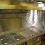 Stainless Steel Quilted Backsplash