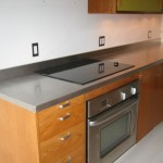 Stainless steel countertop with cook top
