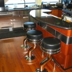 Stainless trim on boat